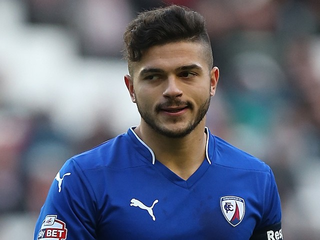 Sam Morsy of Chesterfield in action during the FA Cup Second Round match between MK Dons and Chesterfield at Stadium mk on December 6, 2014