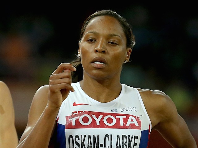 Shelayna Oskan-Clarke of Great Britain compete in the Women's 800 metres semi-final during day six of the 15th IAAF World Athletics Championships Beijing 2015 at Beijing National Stadium on August 27, 2015
