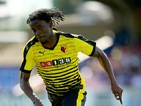 Juan Carlos Paredes of Watford during the Pre Season Friendly match between AFC Wimbledon and Watford at The Cherry Red Records Stadium on July 11, 2015