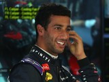 Daniel Ricciardo is all smiles during the Italian GP practice on September 4, 2015
