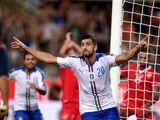 Graziano Pelle of Italy celebrates after scoring the opening goal during the EURO 2016 Group H Qualifier match between Italy and Malta during the UEFA EURO 2016 qualifier between Italy and Malta