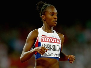 Dina Asher-Smith of Great Britain competes in the Women's 200 metres semi-final during day six of the 15th IAAF World Athletics Championships Beijing 2015 at Beijing National Stadium on August 27, 2015