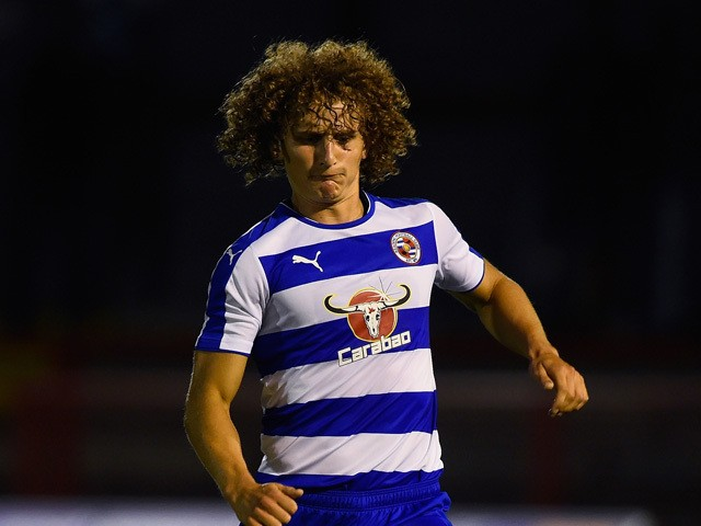 Aaron Kuhl of Reading in action during a Pre Season Friendly between Crawley Town and Reading at Checkatrade.com Stadium on July 27, 2015
