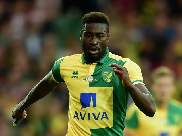 Alex Tettey of Norwich City in action during the pre season friendly match between Norwich City and West Ham United at Carrow Road on July 28, 2015 in Norwich, England.