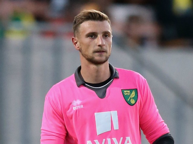 Declan Rudd of Norwich City looks on during the pre season friendly match between Cambridge United and Norwich City at the Abbey Stadium on July 17, 2015 in Cambridge, England.
