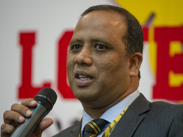 Malaysia's new national team head coach Dollah Salleh speaks at a press conference during his introduction as Football Association of Malaysia's new national coach in Kuala Lumpur on July 9, 2014