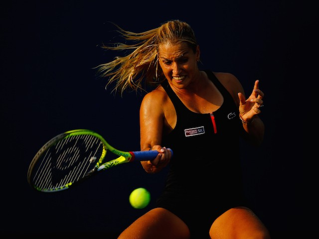 Dominika Cibulkova in action during the second round of the US Open on September 2, 2015