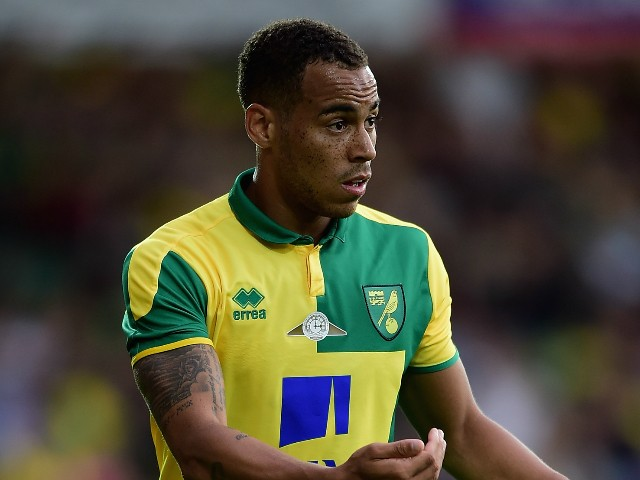 Elliott Bennett of Norwich City in action during the pre season friendly match between Norwich City and West Ham United at Carrow Road on July 28, 2015 in Norwich, England.