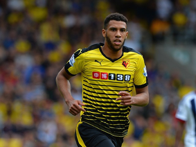 Etienne Capoue of Watford during the Barclays Premier League match between Watford and West Bromwich Albion at Vicarage Road on August 15, 2015