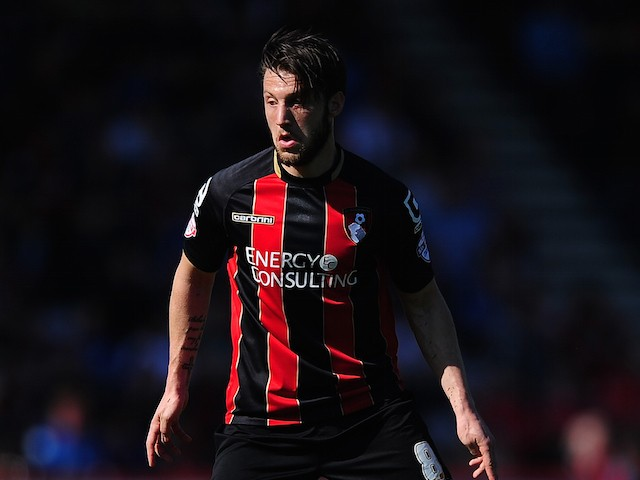Harry Arter of AFC Bournemouth in action during the Sky Bet Championship match between AFC Bournemouth and Birmingham City at Goldsands Stadium on April 6, 2015 in Bournemouth, England.