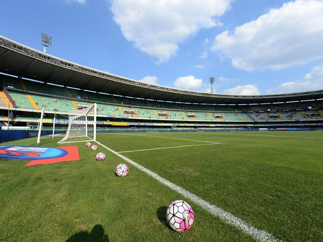 General View of the stadium prior to the Serie A match between Hellas Verona FC and AS Roma at Stadio Marc'Antonio Bentegodi on August 22, 2015