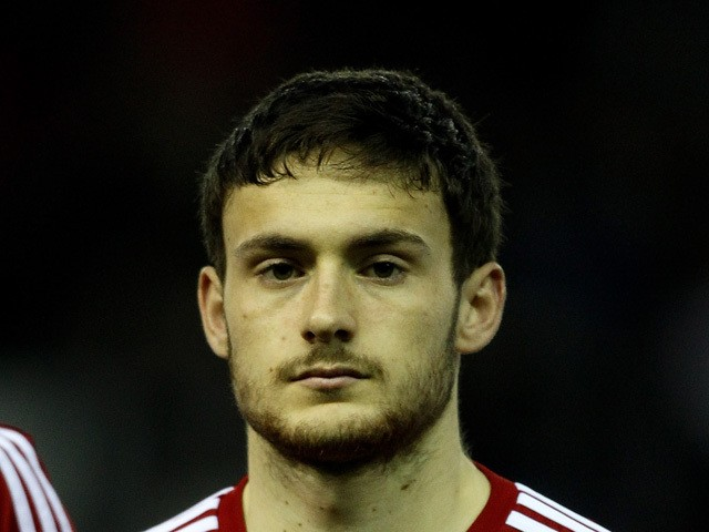 Josh Pritchard of Wales looks on prior to during the U21 European Championship Qualifier between England and Wales at Pride Park Stadium on March 5, 2014