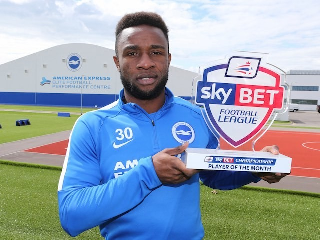 August's Championship Player of the Month, Kazenga LuaLua of Brighton & Hove Albion
