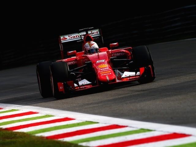 Sebastian Vettel in action during the Italian GP practice on September 4, 2015