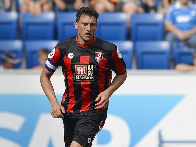 Tommy Elphick of Bournemouth controls the ball during the friendly match between 1899 Hoffenheim and AFC Bournemouth at Wirsol Rhein-Neckar-Arena on August 1, 2015 in Sinsheim, Germany.