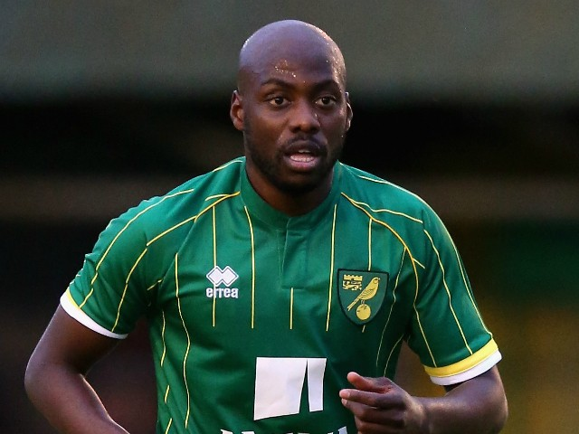 Youssouf Mulumbu of Norwich City looks on during the pre season friendly match between Hitchin Town and Norwich City at Top Field Stadium on July 14, 2015 in Hitchin, England.
