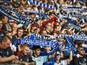 HSV fans sing during the German First division Bundesliga football match Hamburger SV vs TSG 1899 Hoffenheim on October 19, 2014 in Hamburg, northern Germany. AFP PHOTO / ODD ANDERSEN