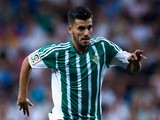 Dani Ceballos of Real Betis Balompie controls the ball during the La Liga match between Real Madrid CF and Real Betis Balompie at Estadio Santiago Bernabeu on August 29, 2015