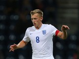 James Ward-Prowse of England during the International friendly match between England U21 and USA U23 at Deepdale on September 3, 2015 in Preston, England