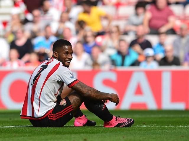 Jeremain Lens sees the funny side after missing a chance for Sunderland against Spurs on September 13, 2015