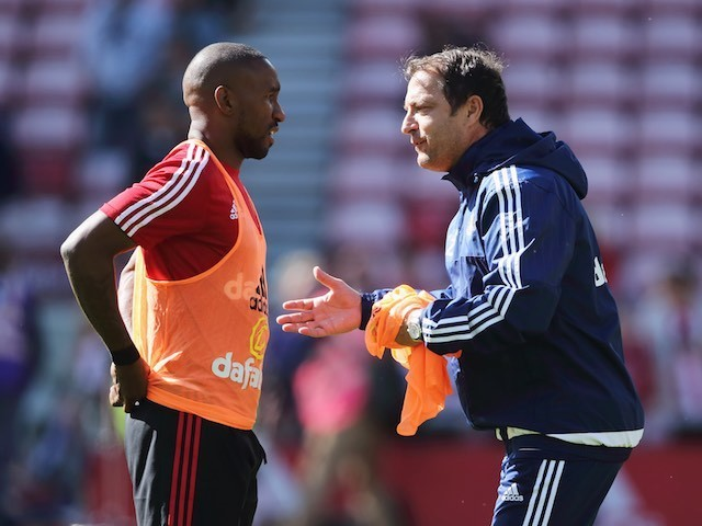 Sunderland's Jermain Defoe hears some home truths ahead of the game with Spurs on September 13, 2015