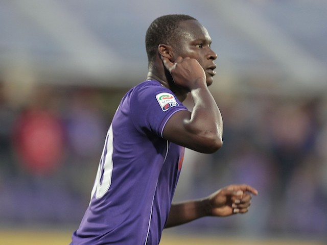 Khouma Babacar has hearing difficulties after scoring for Fiorentina against Genoa on September 12, 2015