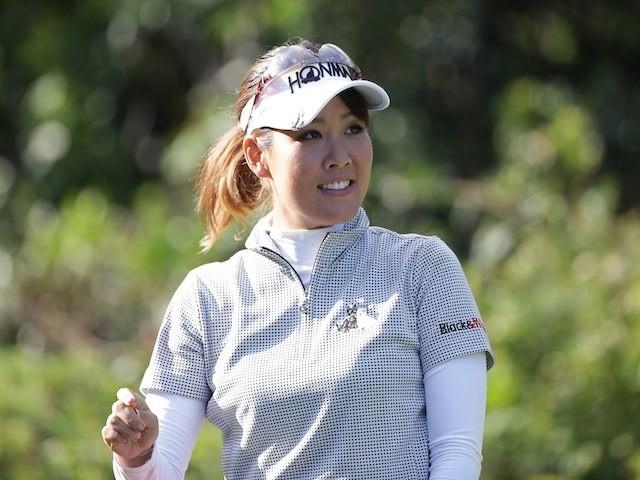 Mami Fukuda in action during the LPGA Championship Konica Minolta Cup on September 13, 2015
