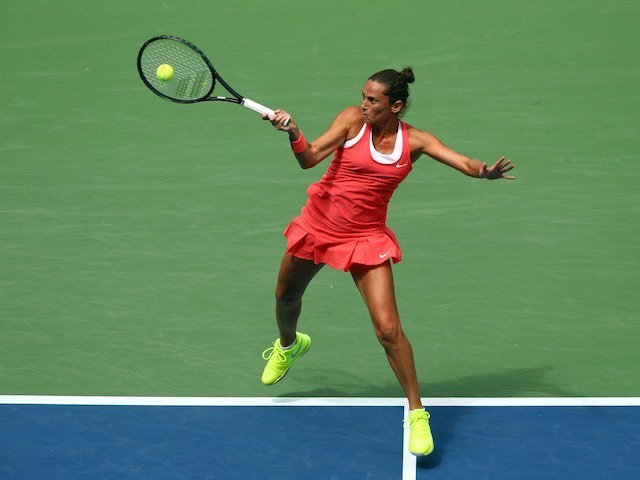 Roberta Vinci in action during her US Open semi-final on September 11, 2015
