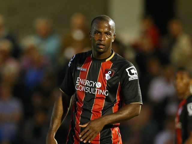 Stephane Zubar of AFC Bournemouth in action during the Pre Season Friendly match between Salisbury City v AFC Bournemouth at the Raymond McEnhill Stadium on July 21, 2015