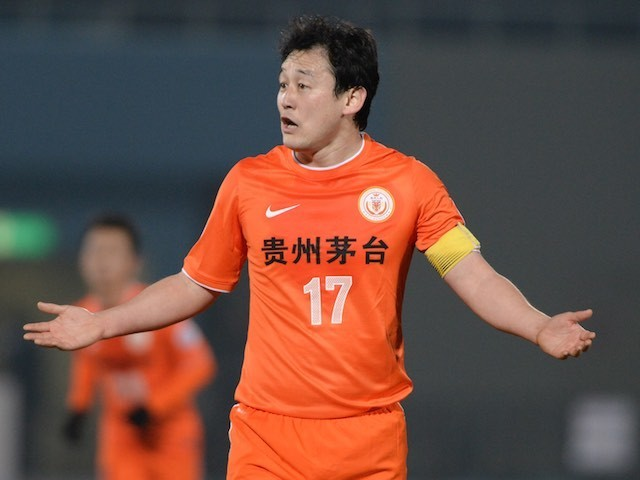 Sun Jihai in action for Guizhou Renhe in February 2014