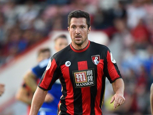 Yann Kermorgant of Bournemouth in action during a Pre Season Friendly between AFC Bournemouth and Cardiff City at Vitality Stadium on July 31, 2015