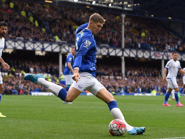 Everton's John Stones in action during the match with Chelsea on September 12, 2015