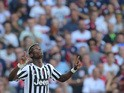 Juventus' French midfielder Paul Pogba celebrates after scoring a goal during the Italian Serie A football match between Genoa and Juventus on September 20, 2015