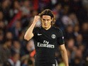 Paris Saint-Germain's Uruguayan forward Edinson Cavani celebrates after scoring a goal during the UEFA Champions League group A football match between Paris and Malmo on September 15, 2015