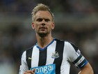 Siem De Jong of Newcastle United in action during the Capital One Cup Second Round between Newcastle United and Northampton Town at St James' Park on August 25, 2015 in Newcastle upon Tyne, England.