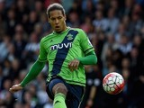 Virgil van Dijk in action for Southampton on September 12, 2015