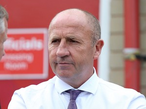 Accrington Stanley manager John Coleman looks on prior to the Sky Bet League Two match between Accrington Stanley and Northampton Town at The Wham Stadium on August 29, 2015 in Accrington, England.