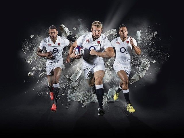 England's Courtney Lawes, Chris Robshaw and Anthony Watson in a Maxi Nutrition advert