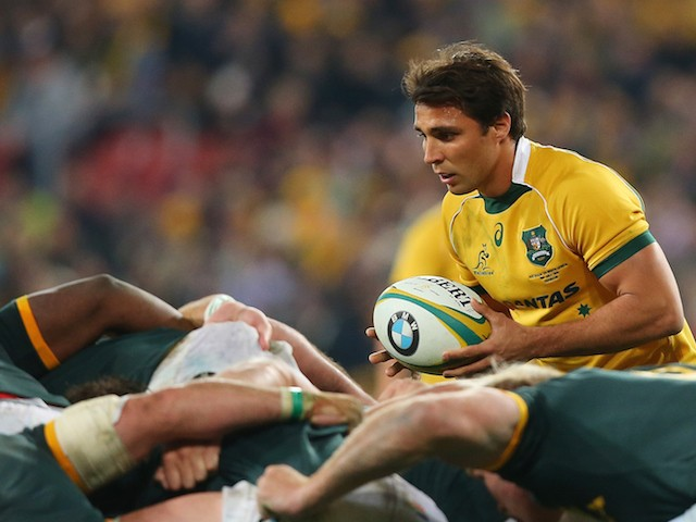 Nick Phipps of the Wallabies prepares for a scrum during The Rugby Championship match between the Australian Wallabies and the South Africa Springboks at Suncorp Stadium on July 18, 2015 in Brisbane, Australia.