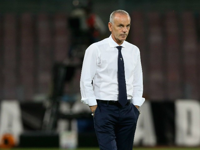 Head coach of Lazio Stefano Pioli prior the Serie A match between SSC Napoli and SS Lazio at Stadio San Paolo on September 20, 2015 in Naples, Italy.