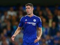 Gary Cahill of Chelsea in action during the Pre Season Friendly match between Chelsea and Fiorentina at Stamford Bridge on August 5, 2015