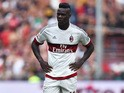 Mario Balotelli of AC Milan looks dejected during the Serie A match between Genoa CFC and AC Milan at Stadio Luigi Ferraris on September 27, 2015