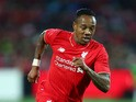 Nathaniel Clyne of Liverpool controls the ball during the international friendly match between Adelaide United and Liverpool FC at Adelaide Oval on July 20, 2015