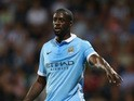 Yaya Toure of Manchester City during the Barclays Premier League match between West Bromwich Albion and Manchester City at The Hawthorns on August 10, 2015