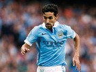 Jesus Navas of Manchester City runs with the ball during the Barclays Premier League match between Manchester City and West Ham United at Etihad Stadium on September 19, 2015