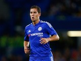 Eden Hazard of Chelsea looks on during the Pre Season Friendly match between Chelsea and Fiorentina at Stamford Bridge on August 5, 2015