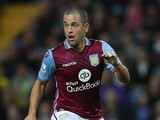 Joe Cole of Aston Villa in action during the Capital One Cup second round match between Aston Villa and Notts County at Villa Park on August 25, 2015