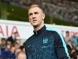 Joe Hart of Manchester City is seen on the bench prior to the Barclays Premier League match between Tottenham Hotspur and Manchester City at White Hart Lane on September 26, 2015