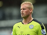 Kasper Schmeichel of Leicester looks on during the Barclays Premier League match between Bournemouth and Leicester City on August 29, 2015