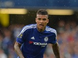 Chelsea's Brazilian striker Kenedy watches the ball during the English Premier League football match between Chelsea and Crystal Palace at Stamford Bridge in London on August 29, 2015